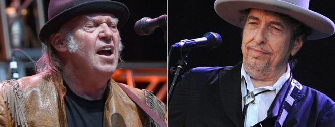 Bob Dylan e Neil Young insieme sul palco