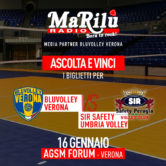 Ascolta e Vinci – BluVolley Verona vs Sir Safety Umbria Volley